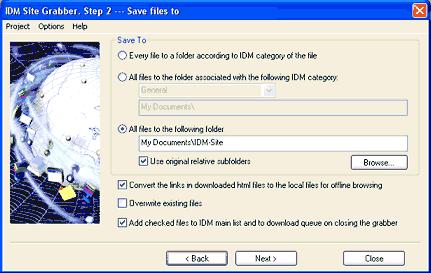 grabber step 2 dialog
